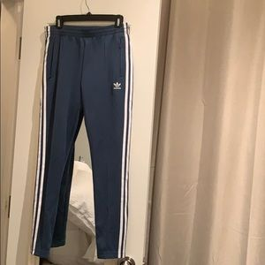 Adidas blue womens track pants
